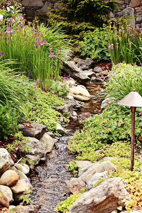 Mountain Air, Traditional Mountain Garden Landscape