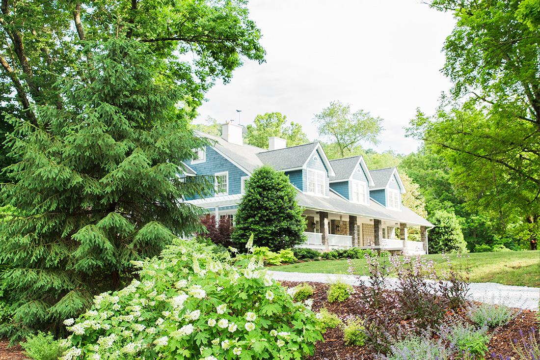 Beautiful landscape design in Beaverdam in Asheville, North Carolina